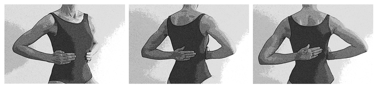 Pilates - Respiration thoracique latérale et dorsale